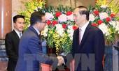 Chủ tịch nước Trần Đại Quang tiếp đoàn đại biểu Hội Chữ thập đỏ-Trăng lưỡi liềm đỏ
