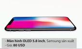 Sản xuất một chiếc iPhone X tốn bao nhiêu?
