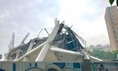 Trường mầm non đang xây ở Hà Nội sập đổ lúc rạng sáng