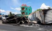 Tin mới vụ chồng giết vợ trước khi tông xe làm hai ôtô cháy