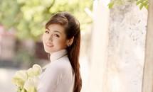Thí sinh Hoa hậu Việt Nam tinh khôi trong tà áo dài