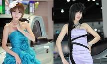 Mỹ nhân xứ Hàn đẹp hút hồn bên xe hơi
