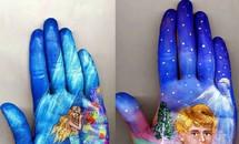 Tác phẩm hội họa trong... lòng bàn tay