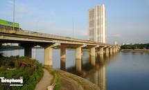 Toàn cảnh khu vực dự định xây cầu vượt hồ Linh Đàm