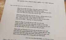 Ca khúc 'Em gái mưa' vào đề kiểm tra Văn, Vật lý