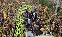 [VIDEO]: Biển người chào đón những 'người hùng' Colombia