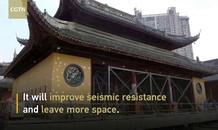 Dịch chuyển ngôi chùa 2000 tấn chỉ trong vòng 2 tuần