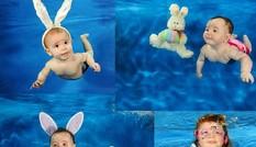 Khoảnh khắc bé làm thợ lặn cực đáng yêu!