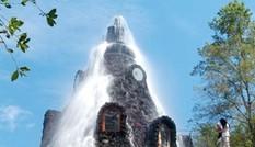 Khách sạn núi lửa phun... nước mát