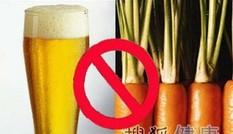 Ăn cà rốt khi uống rượu bia có thể tạo độc tố
