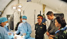 Việt Nam tham gia lực lượng giữ gìn hòa bình LHQ: Diễn tập bệnh viện dã chiến