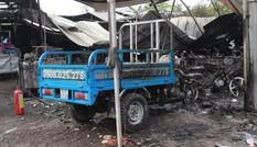 Cháy lớn thiêu hơn 500 xe máy, ô tô