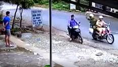 Bắt đối tượng người Trung Quốc ăn trộm xe mô tô