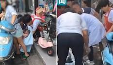 Mẹ sinh con khi đang chạy xe máy