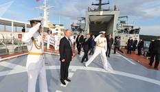 [ẢNH] Tổng thống Nga Putin thị sát tàu hộ vệ Sovershennyi