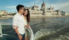 Vợ chồng Dương Thuỳ Linh khoe ảnh ngọt ngào khi du lịch ở trời Âu