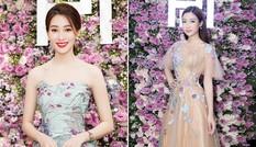 Hoa hậu Mỹ Linh 'đọ sắc' đàn chị Thu Thảo tại sự kiện