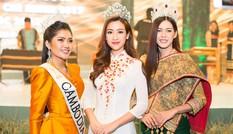 Hoa hậu Mỹ Linh 'đọ sắc' cùng tân Hoa hậu Hoàn vũ Lào