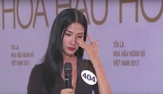Hoàng Thuỳ bật khóc nức nở khi bị chất vấn tại cuộc thi HHHV