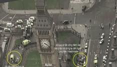 Cung đường chết chóc trong vụ khủng bố gần quốc hội Anh