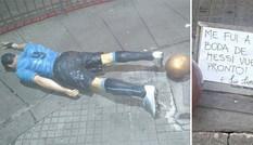 Tượng ngôi sao Suarez bị 'ma men' quật đổ ở quê nhà