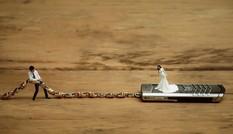 Độc đáo bộ ảnh cưới 'tí hon' của cặp đôi ở Nghệ An