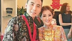 Mỹ nhân Hồng Kông đeo vàng trĩu cổ trong ngày cưới