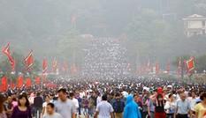 Biển người về dự lễ hội đền Hùng 2017