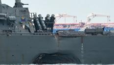 Khu trục hạm Mỹ 'hỏng thiết bị lái' trước khi đâm tàu chở dầu?