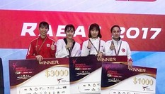 Nữ võ sĩ Việt Nam giành HCB Taekwondo Grand Prix thế giới