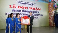 Trường MN Chu Văn An đón nhận bằng khen của Thủ Tướng Chính Phủ