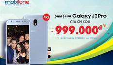 Samsung Galaxy J3 Pro giá dưới 1 triệu đồng chỉ có ở chuỗi cửa hàng của MobiFone