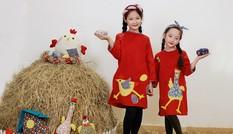 BST áo dài con gà dành riêng cho bé năm Đinh Dậu