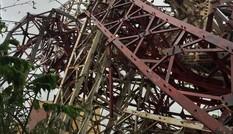 Cận cảnh tháp truyền hình cao hơn 100m bị bão quật đổ