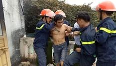 Con trai ngáo đá phóng hoả đốt nhà, đòi tự tử