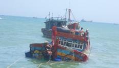 Tàu cá bị tàu lạ đâm chìm