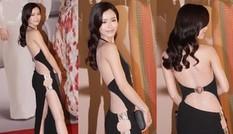 Mỹ nhân Hong Kong nóng bỏng với váy xẻ lườn