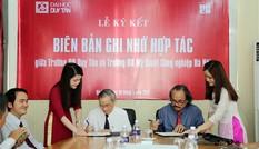 ĐH Duy Tân ký kết Hợp tác với ĐH Mỹ thuật Công nghiệp Hà Nội