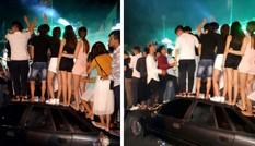 Hàng chục thanh niên nhảy nhót dẫm hỏng ôtô: Lỗi thuộc về ai?