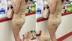Choáng với cô gái mặc chiếc váy phản cảm hết thuốc chữa