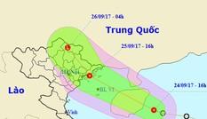 Áp thấp nhiệt đới giật cấp 9 áp sát Quảng Ninh, Hải Phòng
