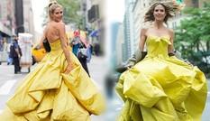 Siêu mẫu 4 con hóa công chúa lộng lẫy giữa phố