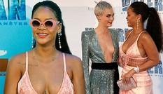 Rihanna và Cara Delevingne đọ sắc vóc táo bạo