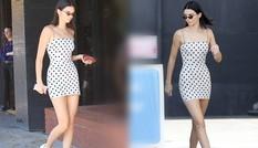 Kendall Jenner diện váy siêu ngắn ra phố khoe chân dài dáng thon