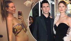 Sau sinh một năm, thiên thần nội y Behati Prinsloo mang bầu lần hai