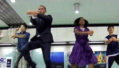 """Obama"" nhảy Gangnam style mừng chiến thắng"