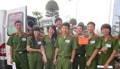 Sinh viên cảnh sát xin được hiến máu