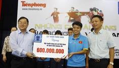 Trao thưởng 600 triệu đồng cho đội tuyển bóng đá nữ Việt Nam