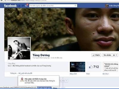 Nhái facebook của người nổi tiếng