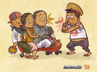 Tranh biếm họa giao thông Việt Nam